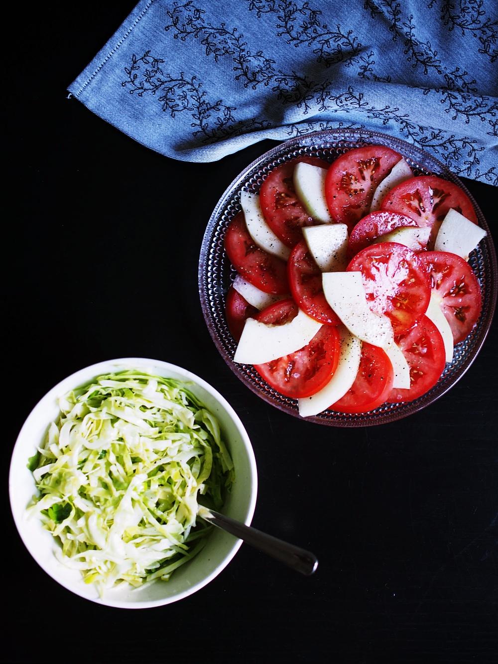 melonisalaatti meidän safkaa