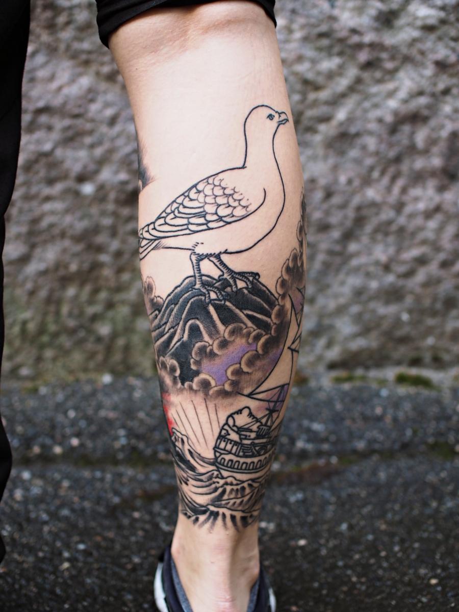 Tatuointi Pohkeeseen